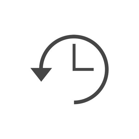 Time back icon Illustration