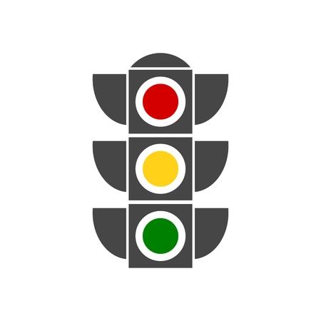 Vector image traffic light Illustration