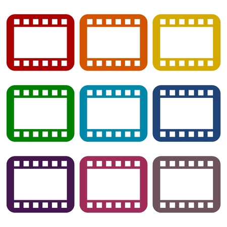 Film Frame icons set