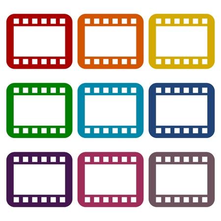 Film Frame icons set