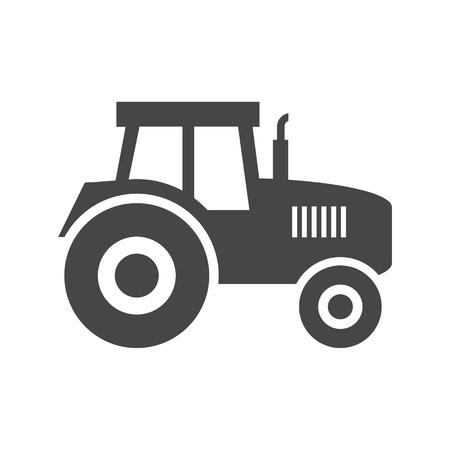 labranza: Icono de vector Tractor Vectores