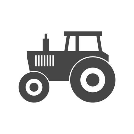 tillage: Tractor vector icon