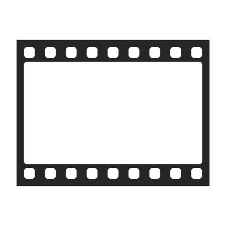 Lista de Cámara, película fotográfica, película icono de la cámara. estilo de diseño plano