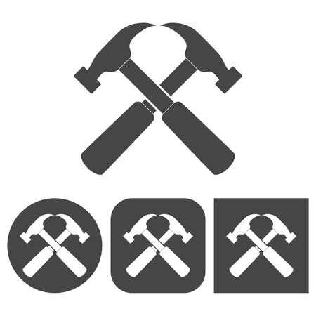 tooling: Hammer - vector icon