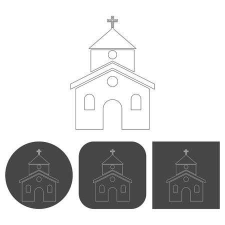 alter: Church - vector icon Illustration