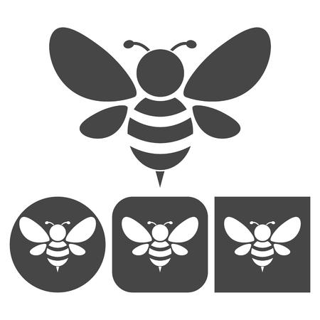 Bee-Symbol - Vektor-Icons gesetzt Standard-Bild - 64117217