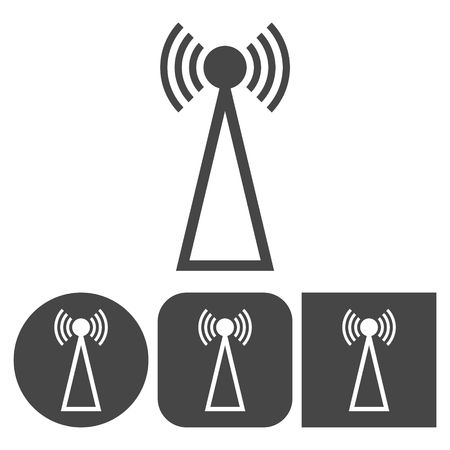 transmitter: Transmitter icon - vector icons set