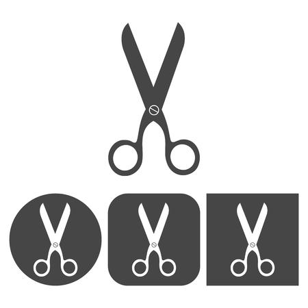 scissors icon: Scissors icon - vector icons set