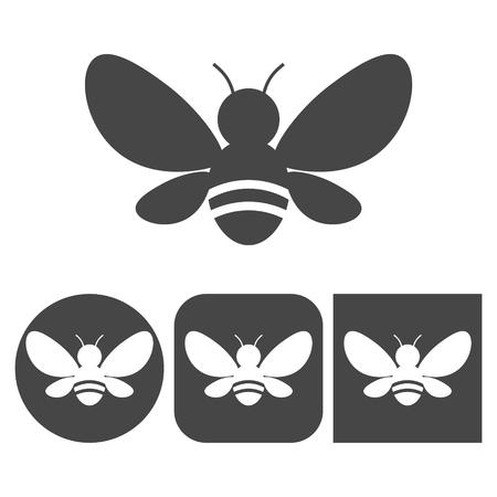 Bee icon - vector icons set Vettoriali