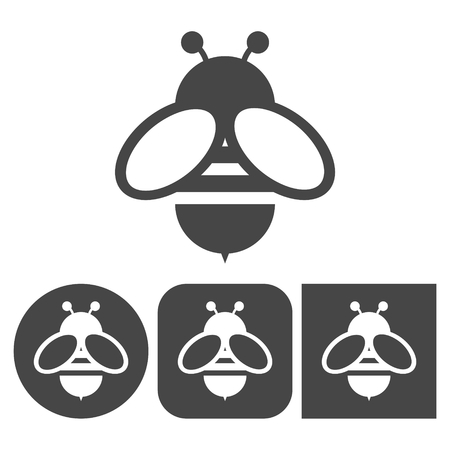 Bee icon - vector icons set Vettoriali