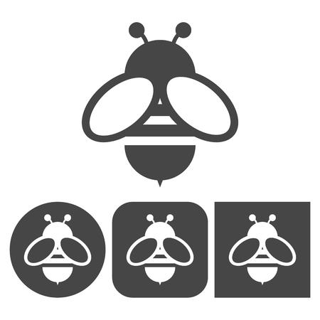 Bee icon - vector icons set Vectores