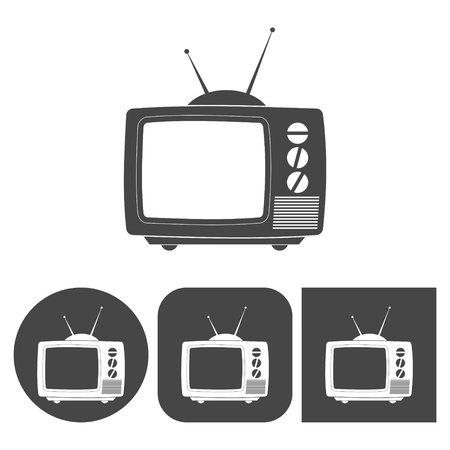 icon vector: TV Icon - vector icons set Illustration