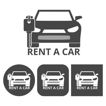 key handover: Rent a Car Transportation design - vector icons set