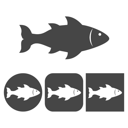 Fish icon - vector icons set
