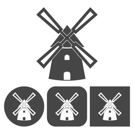 Windmill icon - vector icons set