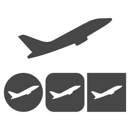 Plane Icon - vector icons set Illustration
