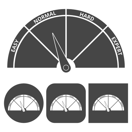Scale icon normal - vector icons set