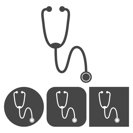 Stethoscope - vector icons set