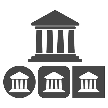 Bank icon - vector icons set