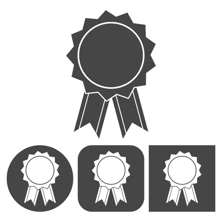 merit: Award icon - vector icons set