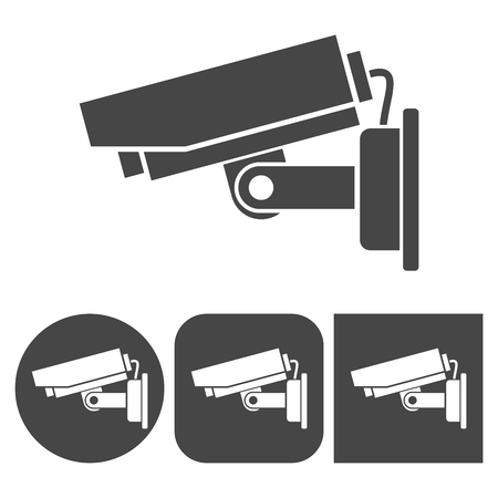 rob: Security camera icon - vector icons set