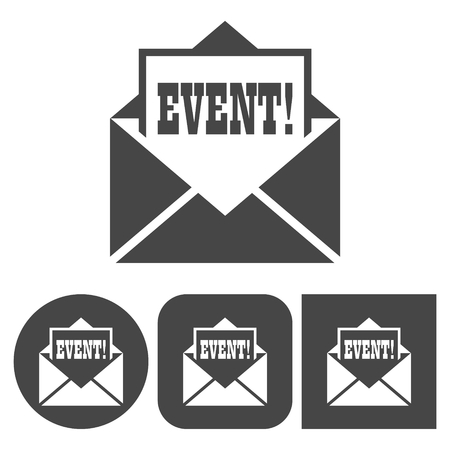 Event icon - vector icons set