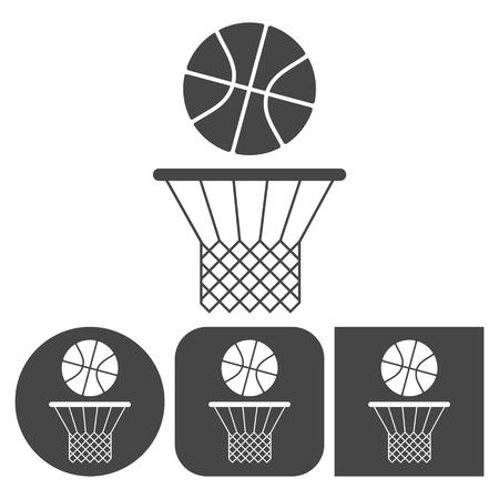 bal: Basketball icon - vector icons set