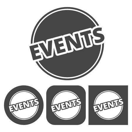 Event icon - vector icons set 向量圖像