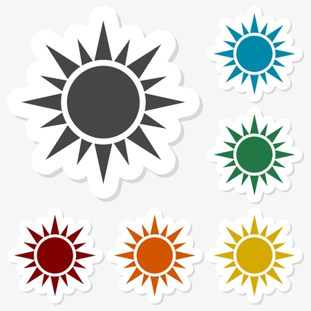 Multicolored paper stickers - Sun