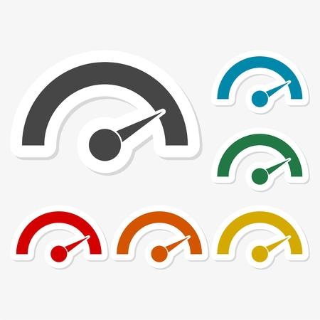 pegatinas de papel multicolores - Manómetro