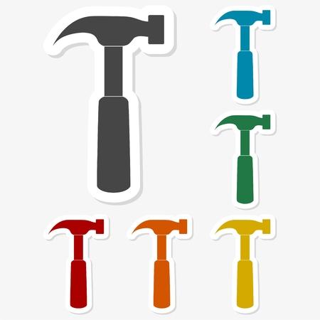 Multicolored paper stickers - Hammer