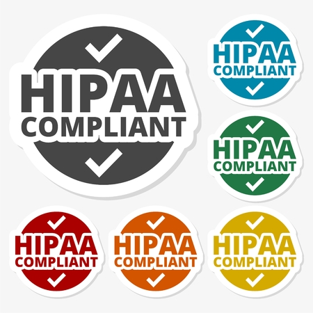 portability: Multicolored paper stickers - HIPAA, Health Insurance Portability and Accountability Act