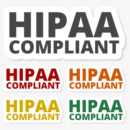 accountability: Multicolored paper stickers - HIPAA, Health Insurance Portability and Accountability Act
