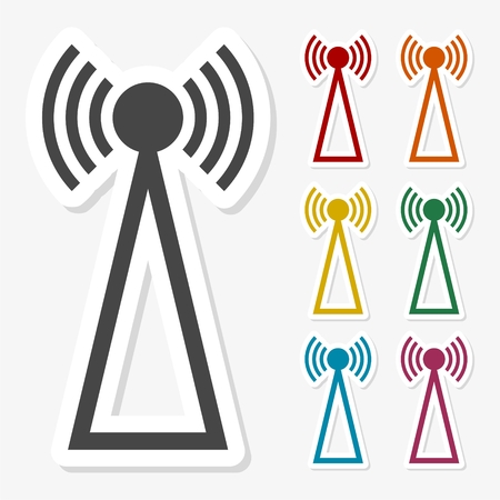 transmitter: Multicolored paper stickers - Transmitter icon