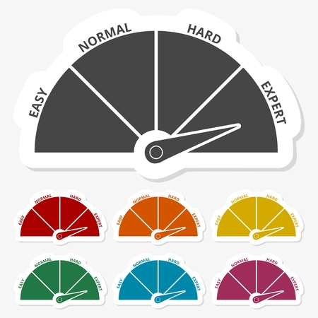 Multicolored paper stickers - Speedometer