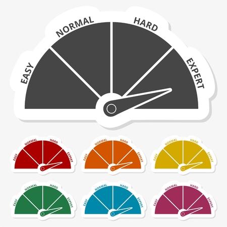 Multicolored paper stickers - Speedometer