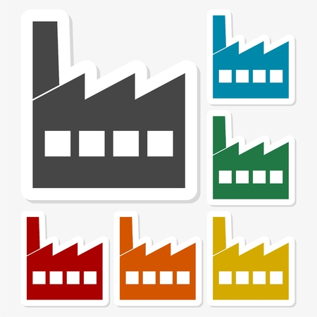 Multicolored paper stickers - Factory icon