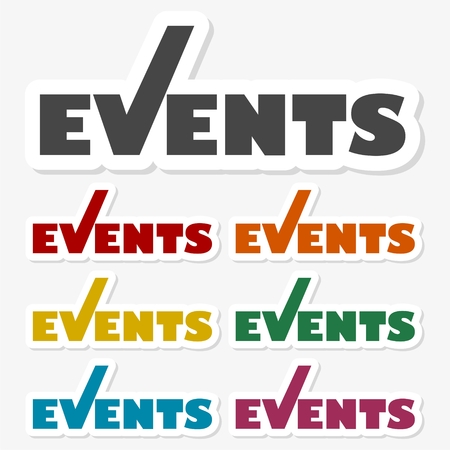 Multicolored paper stickers - Event icon