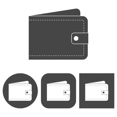 billfold: Wallet - vector icons set