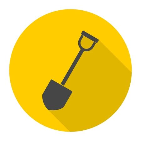Shovel - vector icon with long shadow