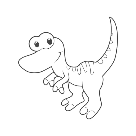 Cute Cartoon Dinosaur icon