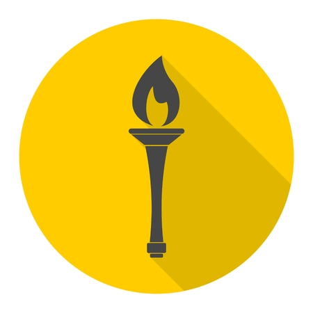 Torch icon with long shadow