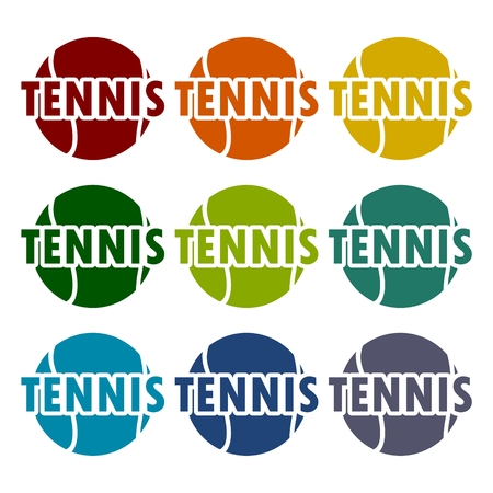 tossing: Tennis design icons set
