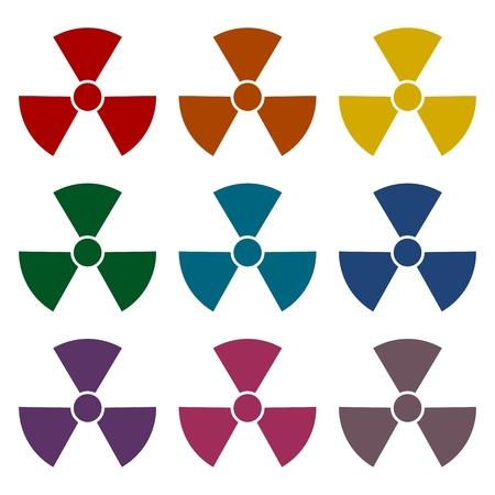 irradiation: Radiation symbol set