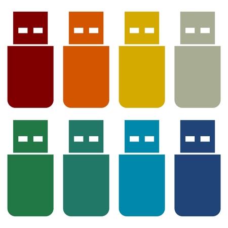 microdrive: Usb icons set