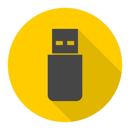 microdrive: Usb icon with long shadow