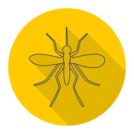 parasites: Mosquito icon with long shadow