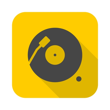 Vinyl icon with long shadow