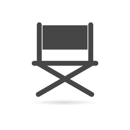 director: Director chair - vector icon