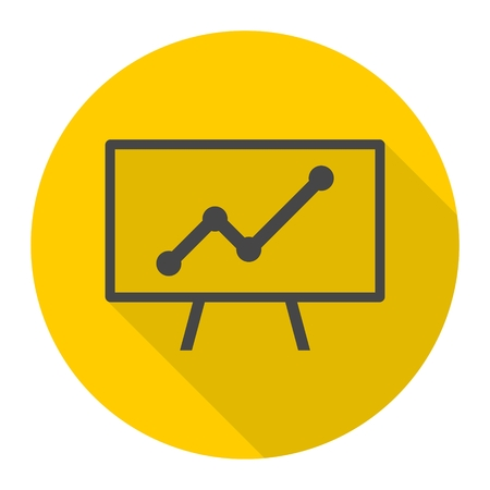 upside: Presentation - vector icon with long shadow